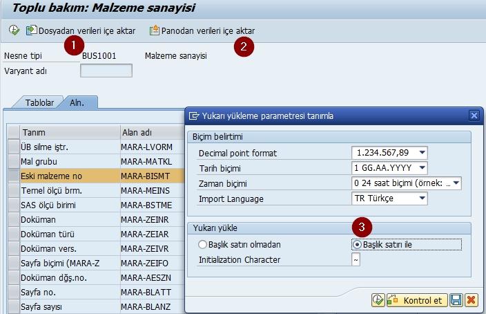 MM17-excelden yükleme